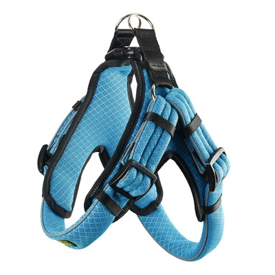 Hunter Hundegeschirr Manoa Vario Quick Light, XL 75-85 cm, 33 mm, blau