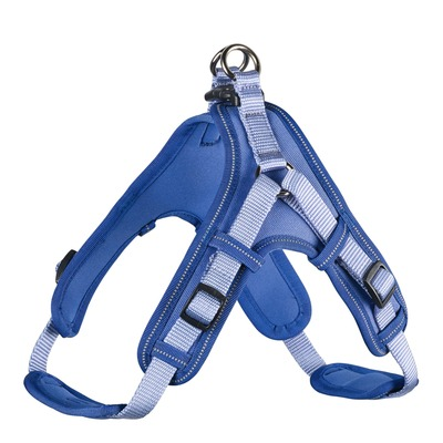 Hunter Hundegeschirr Neopren Vario Quick, M 55-70 cm, 15 mm, blau