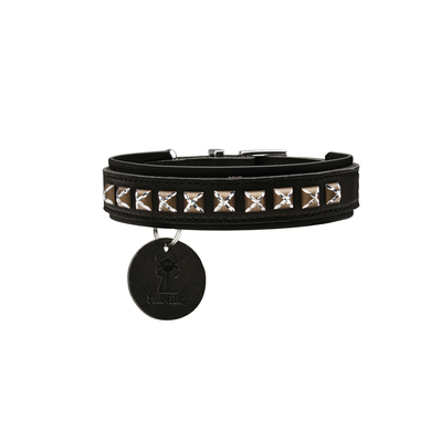 Hunter Hundehalsband Larvik Style Comfort, 40, schwarz