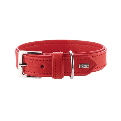 Hunter Hundehalsband Wallgau Leder, 40, rot, Leder