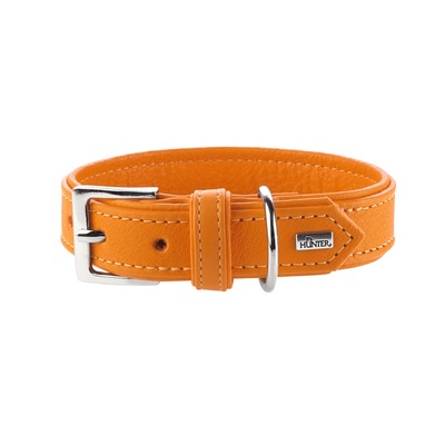 Hunter Hundehalsband Wallgau Leder, 55, orange, Leder