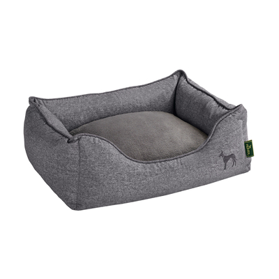HUNTER Hundesofa Hundebett Boston Microfaser, XL: 120 x 80 x 31 cm, grau