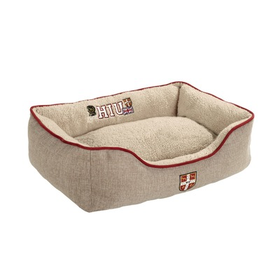Hunter Hundesofa University, L: 80 x 100 cm, braun beige