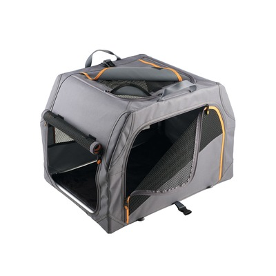 HUNTER Hundetransportbox Alu-Gestell, 91x61x58 cm, anthrazit/orange