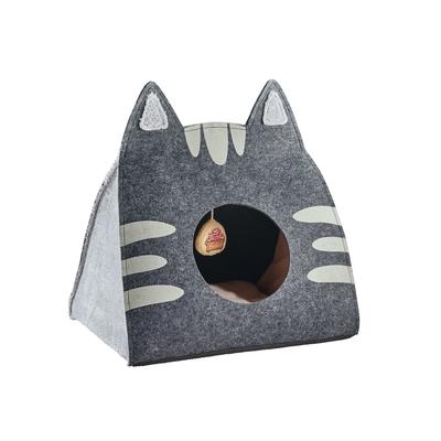 Hunter Katzenhöhle Lille, 50x35x55 cm, anthrazit/grau