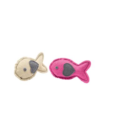Hunter Katzenspielzeug by Laura, Fisch creme, pink, 9 cm