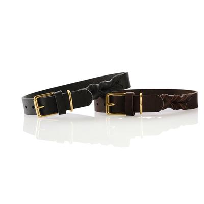 Hunter Leder Halsband Sansibar Solid