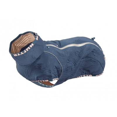 Hurtta Casual Hunde Jacke, gesteppt, für Mops und Bulldoggen, 50XL, blau
