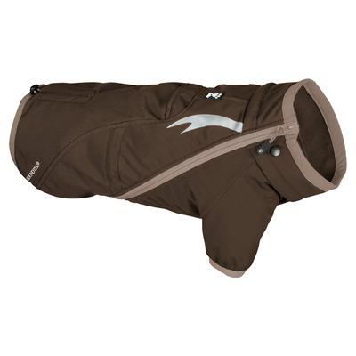 Hurtta Chill Stopper Softshell Mantel für Hunde, 75cm, Braun