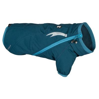 Hurtta Chill Stopper Softshell Mantel für Hunde, 75cm, Petrol-Grün