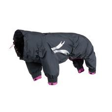 HURTTA Slush Combat Suit Hundeoverall, granit-himbeer, 30M