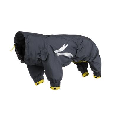 HURTTA Slush Combat Suit Hundeoverall, granit-ockergelb, 35M