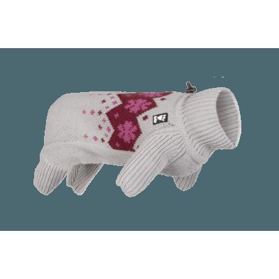 HURTTA Winter Norweger-Pullover für Hunde, 45M, Granit, rot