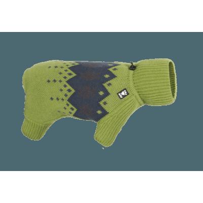 HURTTA Winter Norweger-Pullover für Hunde, 30M, Birkengrün