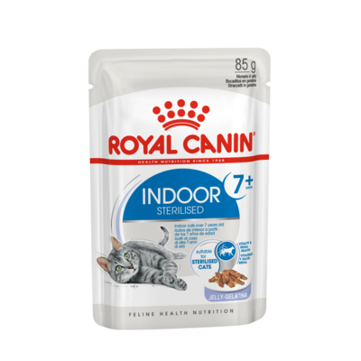 Royal Canin Indoor Sterilised Katzenfutter 7+ nass in Gelee und Sauce