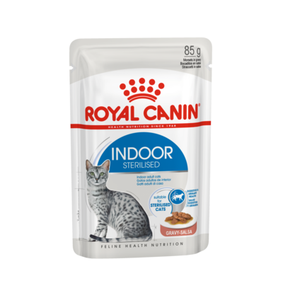 Royal Canin Indoor Sterilised Katzenfutter adult nass in Sauce oder Gelee