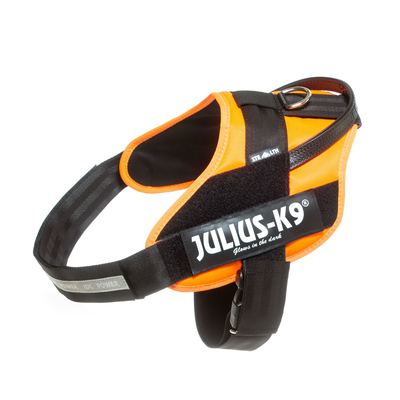 Julius K9 IDC® STEALTH Powergeschirr mit Logofeld, Gr. 3, orange