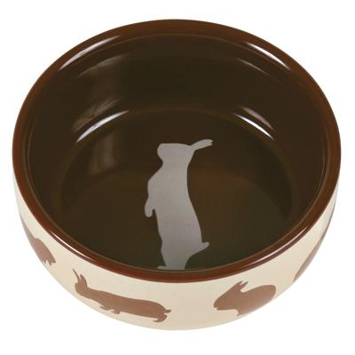 TRIXIE Kaninchennapf mit Motiv aus Keramik