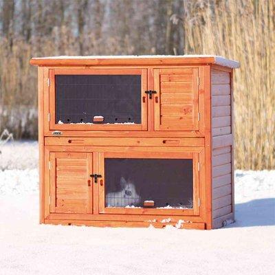 TRIXIE Kaninchenstall winterfest mit Wärmedämmung isoliert