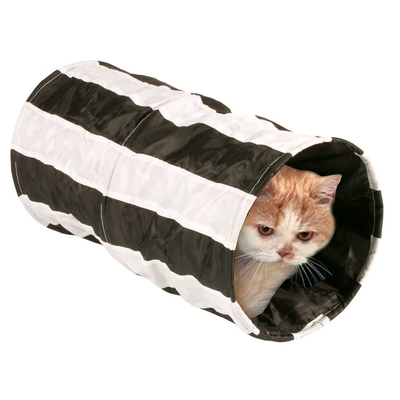 Karlie Katzen Rascheltunnel Feline Cruiser gestreift, L: 50 cm ø: 25 cm diverse Farben