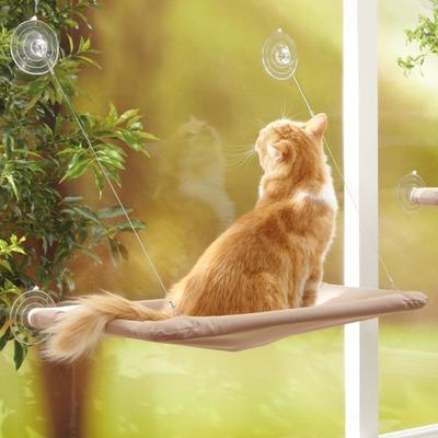 Katzen Fensterhängematte Sunny Seat, beige, 56 x 30cm