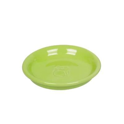 Katzen Milchschale Keramik, Ø14 x 2 cm, hellgrün