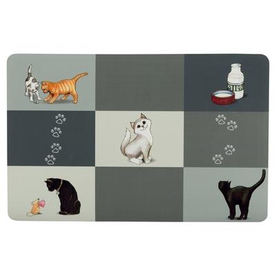 TRIXIE Katzen Napfunterlage Patchwork Cat