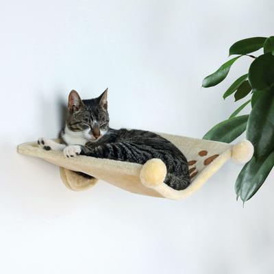 TRIXIE Katzen Plüschmulde Wandmontage