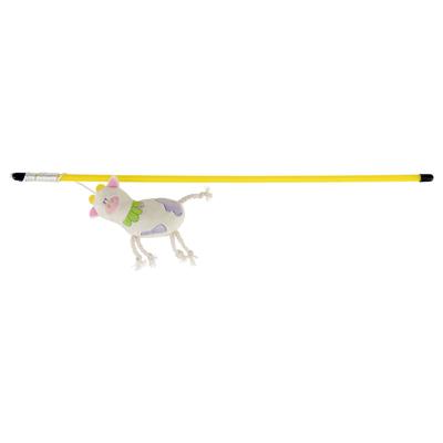 Katzen Spielangel mit Squeaky-Zauberkuh, 47 cm