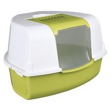 Katzentoilette für die Ecke Tadeo Open Top, 58 × 38 × 50/50 cm, apfelgrün/weiß