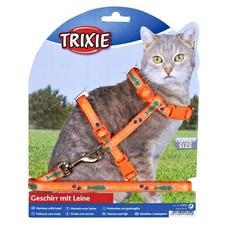TRIXIE Katzengeschirr mit Leine aus Nylon
