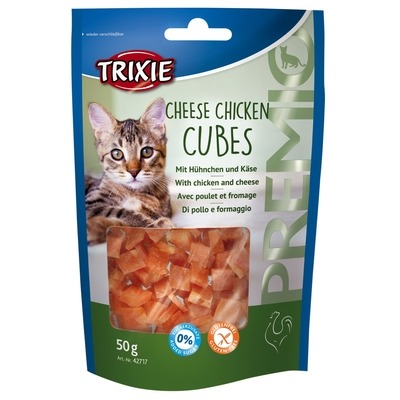 Katzenleckerlis Light Premio Cheese Chicken Cubes