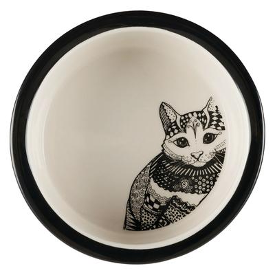 TRIXIE Katzennapf Keramik Zentangle Preview Image