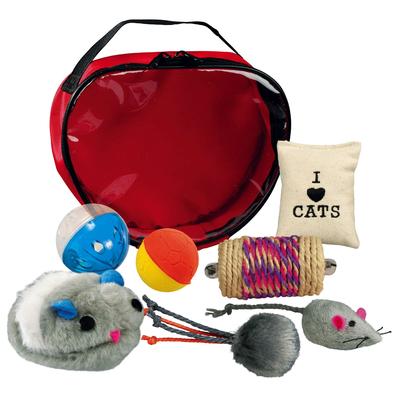 Trixie Katzen Spielset in Herztasche, 7-teilig