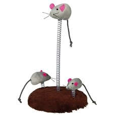 TRIXIE Katzenspielzeug Mouse-Family auf Federn