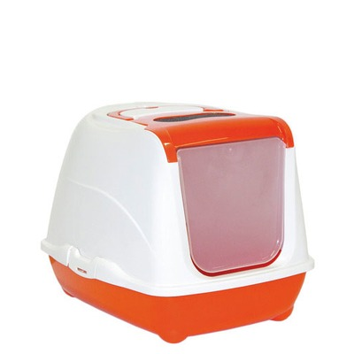 Katzentoilette Flip Cat, Large, B 39 cm x L 50 cm x H 37,3 cm, orange