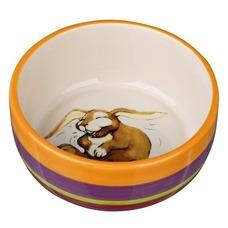 Keramiknapf bunt für Kleintiere