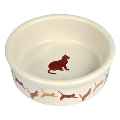Keramiknapf mit Katzenmotiv