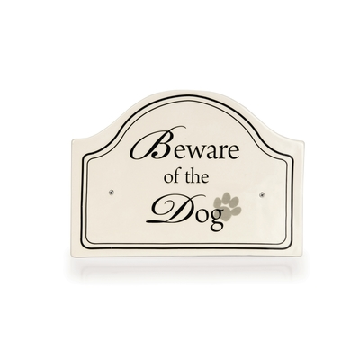 "Keramikschild ""Beware of the Dog"" - Designed by Lotte"