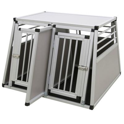 Kerbl Alu-Transportbox Barry zweitürig, Trennwand für 80587 zum Transport von 2 Hunden