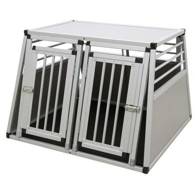 Kerbl Alu-Transportbox Barry zweitürig, Alubox 92x97x68cm