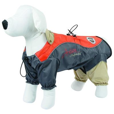 Kerbl Hunde Regenmantel London, XXXL, orange/grau, 70 cm