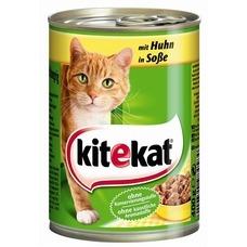 Kitekat Dosenfutter für Katzen, Huhn in Soße 12x400g