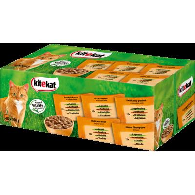 Kitekat Katzenfutter Multipack Bunte Vielfalt in Soße