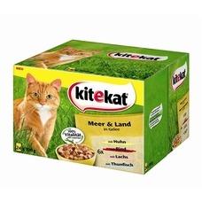 Kitekat Katzenfutter Multipack Meer & Land Gelee, 24 x 100g
