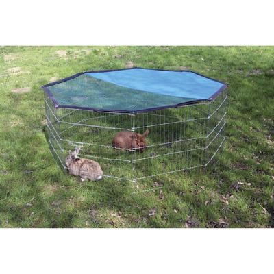 Kerbl Kleintier Freigehege verzinkt 8 eckig mit Netz und Tür