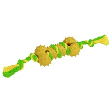Kerbl Knochen am Seil aus Gummi und Baumwolle