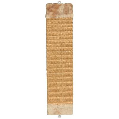 Kratzbrett mit Plüsch, 62 cm, braun