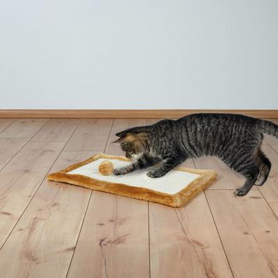 TRIXIE Kratzmatte mit Plüsch für Katzen