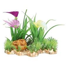 TRIXIE Kunststoffpflanze im Kiesbett